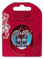 Брелок для ключей двойной MTY Мишки с половинками сердца