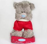 Мишка MTY 13 см - стоит в красных шортах