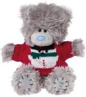 Мишка MTY 13 см. в свитре со снеговиком