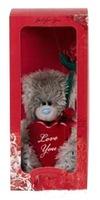 Мишка MTY 13 см.с сердцем и розой в коробочке